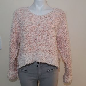 NWT- Hippie Rose Ivory/Coral Sweater
